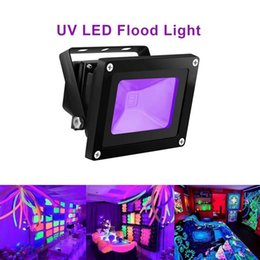 Wholesale outdoor fluorescent - 10W Outdoor UV Black Light IP65 Waterproof COB UV Flood Lights for Body Paint Fluorescent Poster Glow in the Dark Party