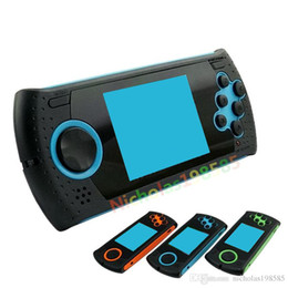 Wholesale 2g Mp4 Player - MD16 SEGA 16Bit Portable 3 Inch Handheld Game Console Players Gaming Consoles 2G Memory Games MP3 MP4 Game Player PK PVP PXP3 PAP GB Boy