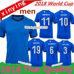 e1a841f0b new 2018 ITALY WORLD CUP home soccer Jersey away 18 19 ITALY CANDREVA  CHIELLINI EL SHAARAWY BONUCCI INSIGNE BERNARDESCHI FOOTBALL SHIRTS