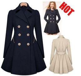 Wholesale Double Breasted Lady Winter Coats - Autumn Winter Double-breasted Coat Ladies Jacket Fahion Sweatshirts Coat