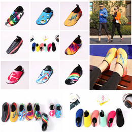Wholesale media skins - Diving Beach Mesh Shoes Non-Slip Slip-on Barefoot Water Sports Skin Shoes Aqua Socks Adults Kids Swimming Surfing Yoga Exercise AAA419