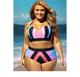 Wholesale Hot Pink Two Piece Swimsuit - hot selling Plus size swimsuit plus size swimwear one - piece swimsuit Go to the beach and swim