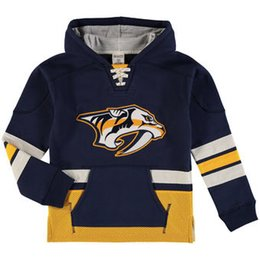 hockey hoodie UK - Mens Womens Kids Custom Nashville Predators Cheap Top  Quality Embroidery Navy Red 488fcce10