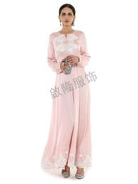f31600d4e04 nouvelle robe maxi de soie rose femmes manches longues en dentelle  patchwork printemps pleine longueur jolie robe de soirée slim robes jolies  robes maxi pas ...