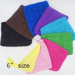 Wholesale Crocheted Tube Tops - Waffle Crochet Tutu Tube Tops Kids Girl Chest Wrap Children Headband Baby Accessories DIY Polyester Knit Elastic 15*15cm 6inches