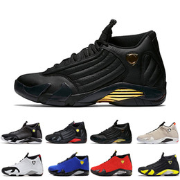 e80a7ee47bc1 14 14s mens Basketball Shoes Desert Sand DMP Last Shot Indiglo Thunder Red  Suede Oxidized Candy Cane men Sports Sneakers trainers designer