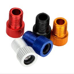 Adattatori pompa online-5 pezzi / set Presta a Schrader Car Auto Bicycle Bike tubo tappo pompa adattatore Valvola convertire auto-styling pneumatico accessori
