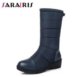 96936737a8e SARAIRIS Fashion Women Snow Boots Ladies Warm Winter Fur Shoes Rubber Wedge  Med-Half Platform Shoes Winter Boots Big size 35-44