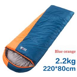 sacs de couchage hiver adultes Promotion Le sac de couchage de camping pour adultes en plein air de BSWolf Winter épaissit les enveloppes. Le sac de couchage en coton peut être collé.