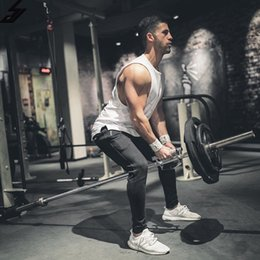Wholesale Mens Tank Top Slim Fit - Brand Mens T Shirts Summer Cotton Slim Fit Men Tank Tops Clothing Bodybuilding Undershirt Golds Fitness Tops Tees