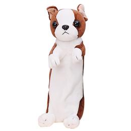 Cajas de lápices para niñas online-Estuche de lápices escolares Estuche de lápices para perros Tienda Estuche de lápices Estuche de lápices para niñas Plumier de dibujos animados Estuche de juguetes Labrador