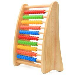 Rainbow Bead Abacus Wooden Counting Frame Bambini Bambini Math Calculating Tool Toys da strumenti matematici fornitori
