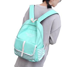 2019 sacos da lona da lona do estilo de japão 100pcs / lot Moda Escola Mochilas para o portátil Adolescentes Canvas Back Pack fêmea bonito Japão e Coreia Bolsas Estilo Viagem desconto sacos da lona da lona do estilo de japão