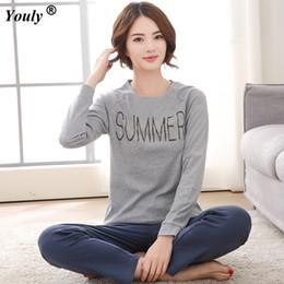 Plus Size XXXL 2018 Women Pajamas Sets Cotton Nightwear Long Sleeve Pyjamas  O-Neck Sleepwear Female Pijamas pyjamas Homewear Set 27ec0da4f