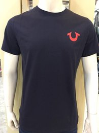 Wholesale Polo Club - High Quality USA Red Black White Mens Robin True Jeans Crew polo T-Shirt With Wings Real American Jeans Mtorcycle Club Slim Short Sleeve