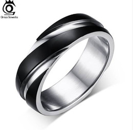 Wholesale Indian Men Wear - New Fashion Daily Wear Rings Top Quality Lead & Nickel Free Black Color Stainless Steel Men Party Rings OTR60