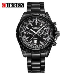 2019 quartzo quartzo CURREN relógios homens relógio de quartzo relogio masculino relógios de pulso de luxo moda casual exército Resistente à água esportes 8053 quartzo quartzo barato