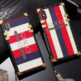 Argentina Funda de lujo para el teléfono con banda para iPhone X XS XX máximo IPhone8 8 7 7 plus 6 6 s más moda cubierta de piel de impresión Inglés con correa para el cuello portátil Suministro