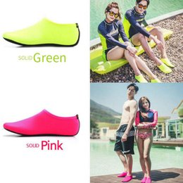 zapatos descalzos para mujer Rebajas 2018 New Kids, Womens and Mens Classic Barefoot Water Sports Skin Shoes Aqua Calcetines para nadar en la playa Ejercicio de yoga y surf