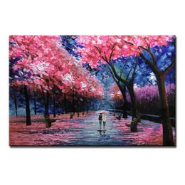 Canada Peinture à l'huile 1pc Mintura avec 100% peint à la main sur toile pour salon - Toile abstraite moderne FLOWER ROAD 4 size Offre