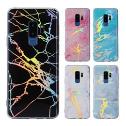 Canada Coque TPU souple en marbre brillant de Bling Laser Étincelle Étuis souples Couverture pour iPhone X 8 7 6 6S Plus Samsung S8 S9 Plus S7 edge Note 8 Offre