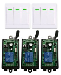 telecomando 9v Sconti DC 9V 12V 24V 1 CH 1CH RF Ricevitore con sistema di telecomando per telecomando + 3CH 86 Trasmettitore per pannello a parete, 315 / 433,92 sportelli MHZ