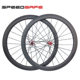 Wholesale Tubular Disc Cyclocross Wheels - SPEEDSAFE 700C 45mm tubular 25mm width CycloCross Road Disc carbon wheels M32 straight pull front 15mm 12mm rear 142mm UD 3K matte glossy