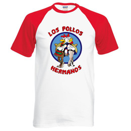 Wholesale Los Pollos Hermanos T Shirt - Wholesale-Breaking Bad Shirt LOS POLLOS Hermanos T Shirt Chicken Brothers 2017 hot sale summer 100% cotton fashion raglan tee for fans