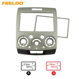 2019 ford dash kit FEELDO Ouro 2DIN Carro Reequipamento Estéreo DVD Quadro Fascia Painel de Instrumentos de Instalação para Ford Everest / Ranger / Mazda BT-50 # 1571 desconto ford dash kit
