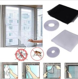 Wholesale Polyester Nets - 2 Colors 150*130cm Large Window Mosquito Net White Anti Mosquito Bug Insect Net Window Curtain DIY Flyscreen Polyester CCA9903 100pcs