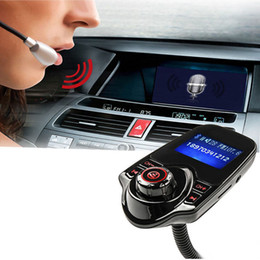Wholesale Bluetooth Car Kit Aux - Handsfree Bluetooth Car Kit Handsfree FM Transmitter Aux Car MP3 Music Player Radio Adapter 1 Pcs DDA365