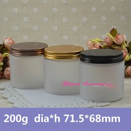 Wholesale Travel Size Makeup Wholesale - 30pcs lot 200g frosting beauty jar cosmetic container manufacturers 7oz 200ml frosted cosmetic products makeup packaging design for scrubs