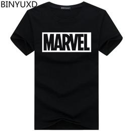 ea2fe29c0815 BINYUXD T-Shirt Sommer neue Mode MARVEL T-Shirt Männer Baumwolle kurze  Ärmel Casual männlichen Tshirt Marvel T-Shirts Männer Tops Tees