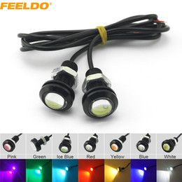 Olhos da águia do carro on-line-FEELDO 2 PCS Poder 3 W Lens Ultra-fino 18mm LED Car Eagle Eye Cauda luz de Backup Da Lâmpada Traseira DRL Luz 7 Cores # 1020