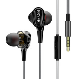 Wholesale Ipad Microphone - In Ear Headphones with Microphone Dual Dynamic Drivers Earphones Silver Plated Wire Earbuds for iPhone,iPad,Samsung (Black)
