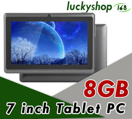 tablet pc q88 Promo Codes - 2018 New Q88 7 Inch Android 4.4 Tablet with keyboard case PC ALLwinner A33 Quade Core Dual Camera 8GB 512MB Capacitive Cheap Tablets PC DHL