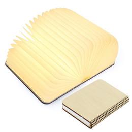 La lumière de livre menée par pliage en bois pour le décor / bureau / table / mur, lumière de nuit en forme de livre rechargable d'USB, lampe magnétique de bureau ? partir de fabricateur