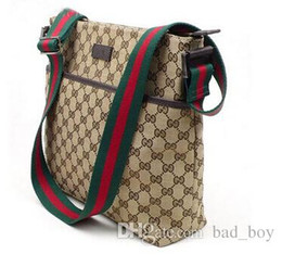 Wholesale Crossbody Canvas - Luxury Brand Mens Shoulder Bags Famous Handbags Women Messenge Bags Designer Female Vintage Satchel Bag Canvas Crossbody Shoulder Bags black