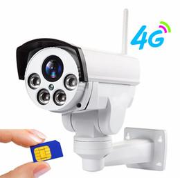 Wi fi ptz caméras en Ligne-1080P Caméra IP Wi-Fi 3G 4G Carte SIM Caméra Wifi HD Balle PTZ Caméra Extérieure Sans Fil IR 50M Zoom Zoom Objectif Caméra CCTV