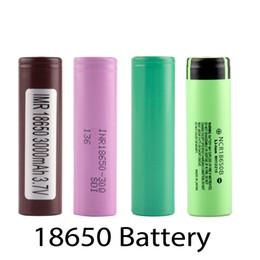 Wholesale tops for wholesale - Top quality hg2 30q 3000mah VTC5 2600mAh NCR18650B 3400mah 18650 Li-ion 25r 2500mah battery for E cigarette mod 0204105-4