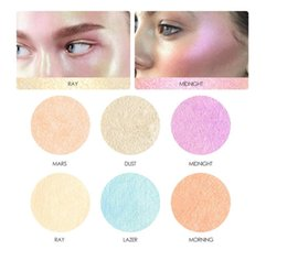 Wholesale Chameleon Powder - Newest Focallure 6 Color Chameleon Highlights Palette Makeup Shimmer Highlighter Powder Illuminator Brightening Cosmetic Free Shipping