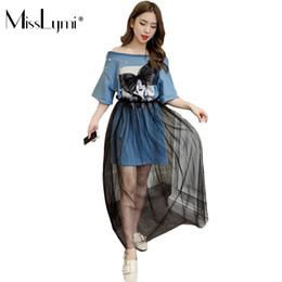 5f9b6d1bebc8 MissLymi M-XXL Big Size Women T shirt Dress Mesh 2 Piece Set 2018 Summer  Harajuku Kawaii Big Bow Cartoon Print Beading Dresses big size night dresses  on ...