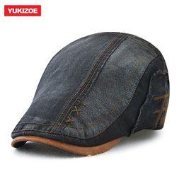 76ec85484d5 Men Women Vintage Cotton Patchwork Newsboy Cap Duckbill Visor Casual Cabbie  Beret Caps Brand Strapback Flat Golf Ivy Hats