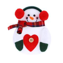 Sehr tische online-2 STÜCKE Sehr niedlich schneemann design Weihnachten Besteck Halter Taschen Weihnachtsbaum Hängende Dekorationen Weihnachten Liefert Tisch Ornamente