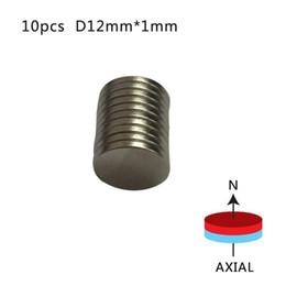 10pcs 12 x 1 mm N50 Mini imán permanente de refrigerador de tierras raras súper pequeño imán redondo de neodimio desde fabricantes