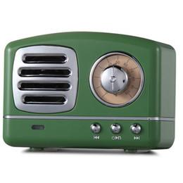 pílula para telefone Desconto Oradores Sem Fio Bluetooth Retro Vintage Inovador Rádio Portátil Mini Speaker Estéreo de graves profundos FM U disco TF Handsfree Subwoofer USZ176