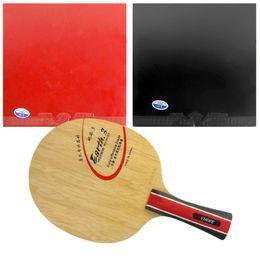 Wholesale Combo Table - Wholesale- Original Pro Table Tennis  PingPong Combo Racket: Galaxy Yinhe Earth.3 Blade 2x 729 Super FX Rubbers Shakehand Long Handle FL