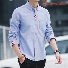 Nuove camicie di stile coreano online-Camicia da uomo a maniche lunghe a maniche lunghe a maniche lunghe stile coreano New Hawaii