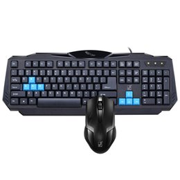 Wholesale Ps Usb - Q29 cable photoelectric PS 2+USB keyboard mouse set game mouse keyboard suite home games notebooks office available 104 keys
