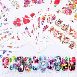 20 Feuilles Mixtes Transfert D'eau Nail Art Autocollants Peinture Florale Maquillage Impressions Chat Chien Fruits Crème Glacée Femmes Fille Manucure DIY Stickers Nouveau ? partir de fabricateur